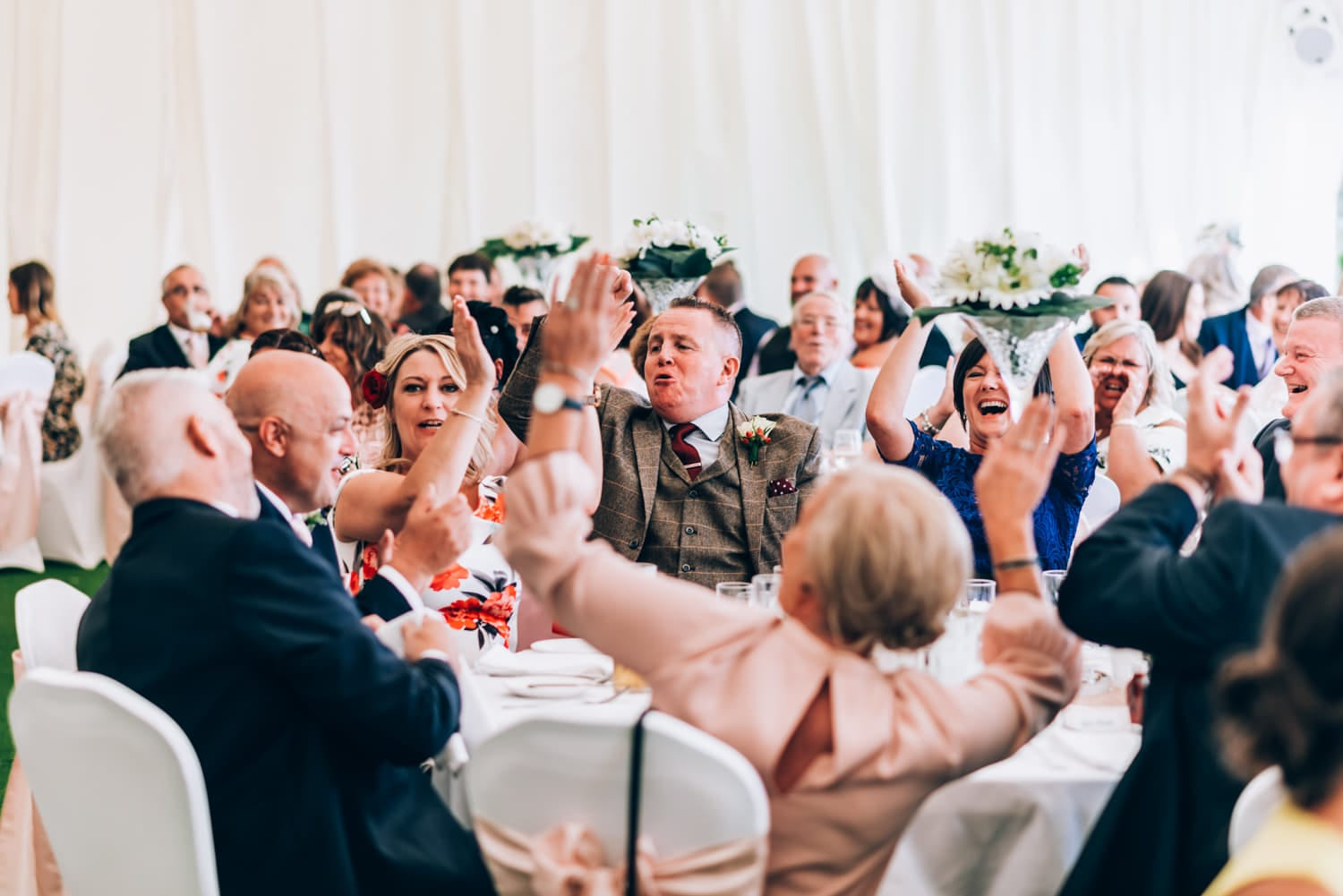 Cottrell Park Golf Resort weddings - crowd clapping and happy