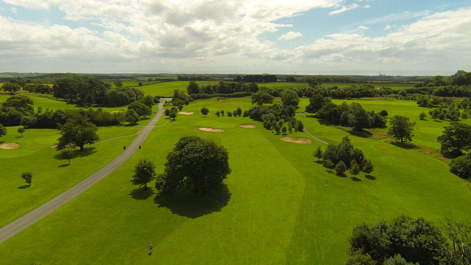 The Mackintosh Golf Course at Cottrell Park, South Wales - An overview of our golf course with the presence of many scattered trees