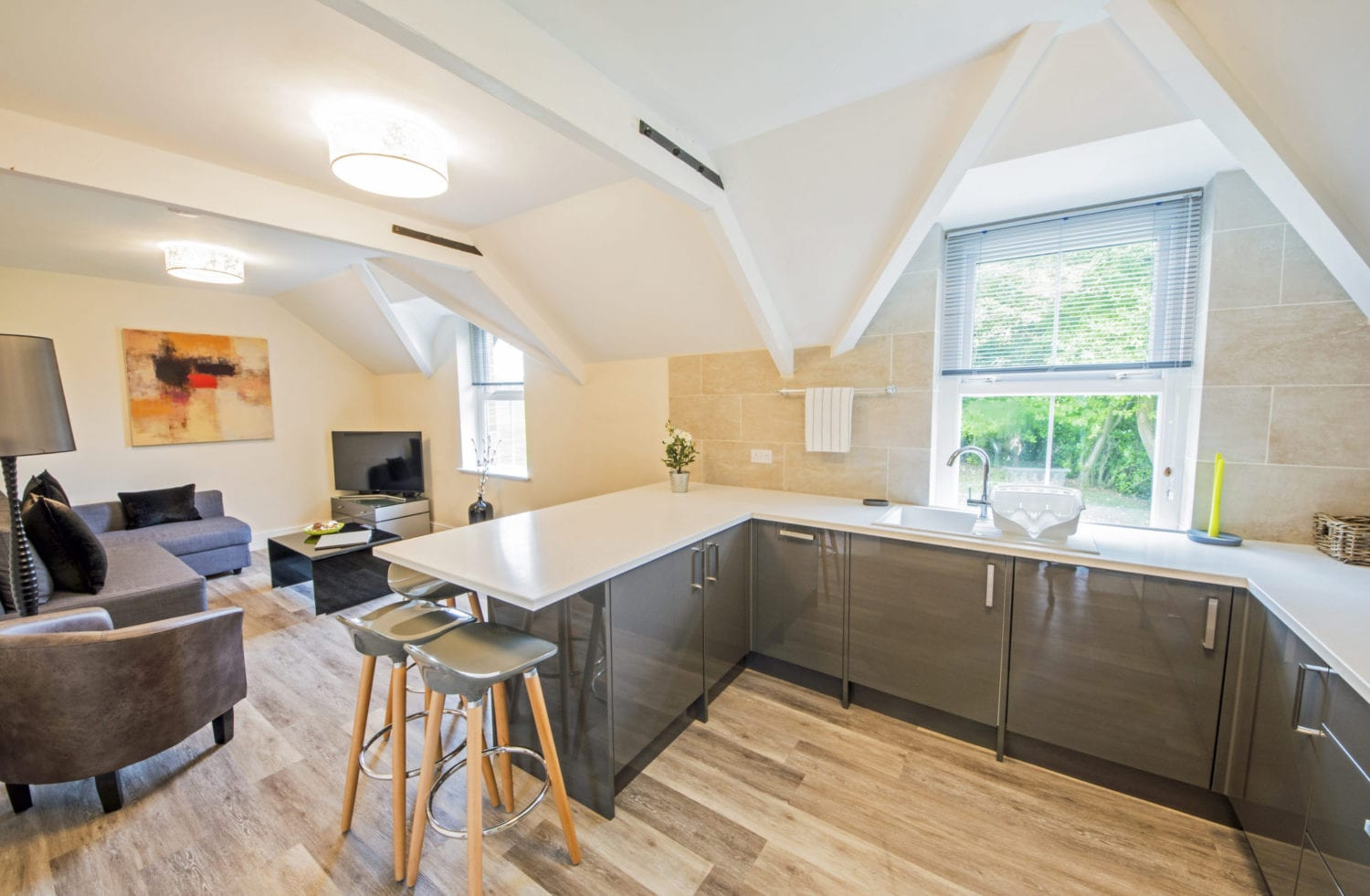 South Wales Holiday Accommodation, Emilia Apartment - kitchen interior of luxury apartment