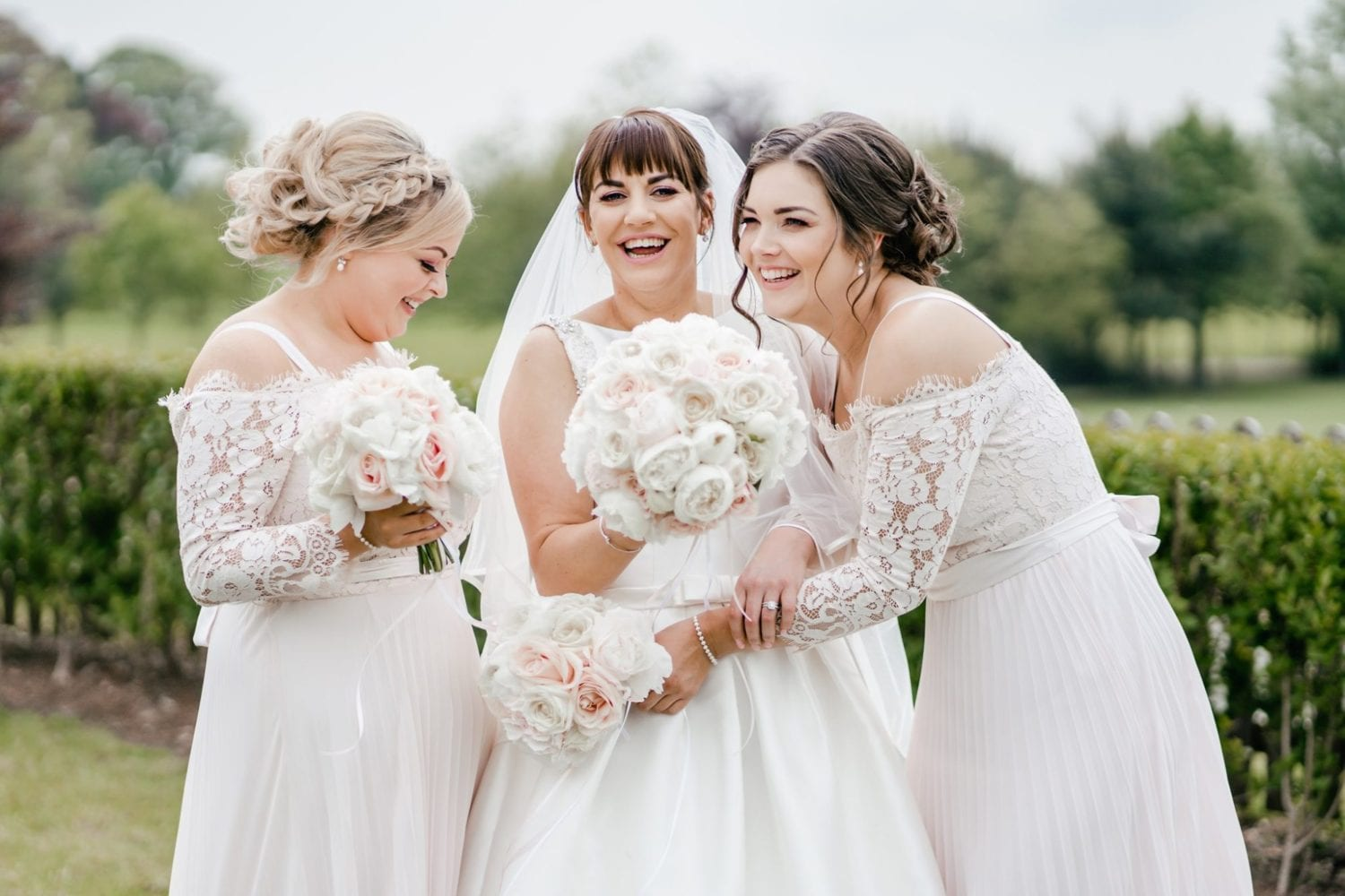 Cottrell Park Wedding Showcase January 2020 - bride and bridesmaids laughing